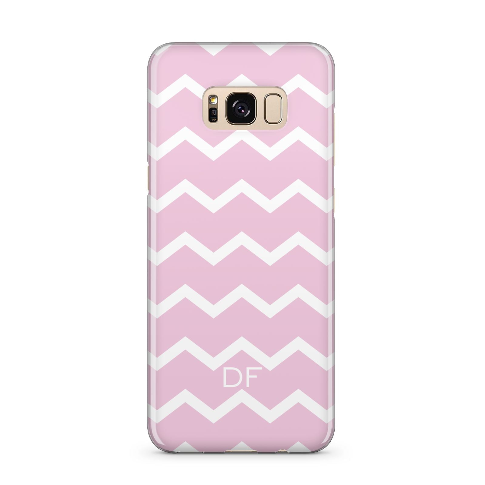 Personalised Chevron Pink Samsung Galaxy S8 Plus Case