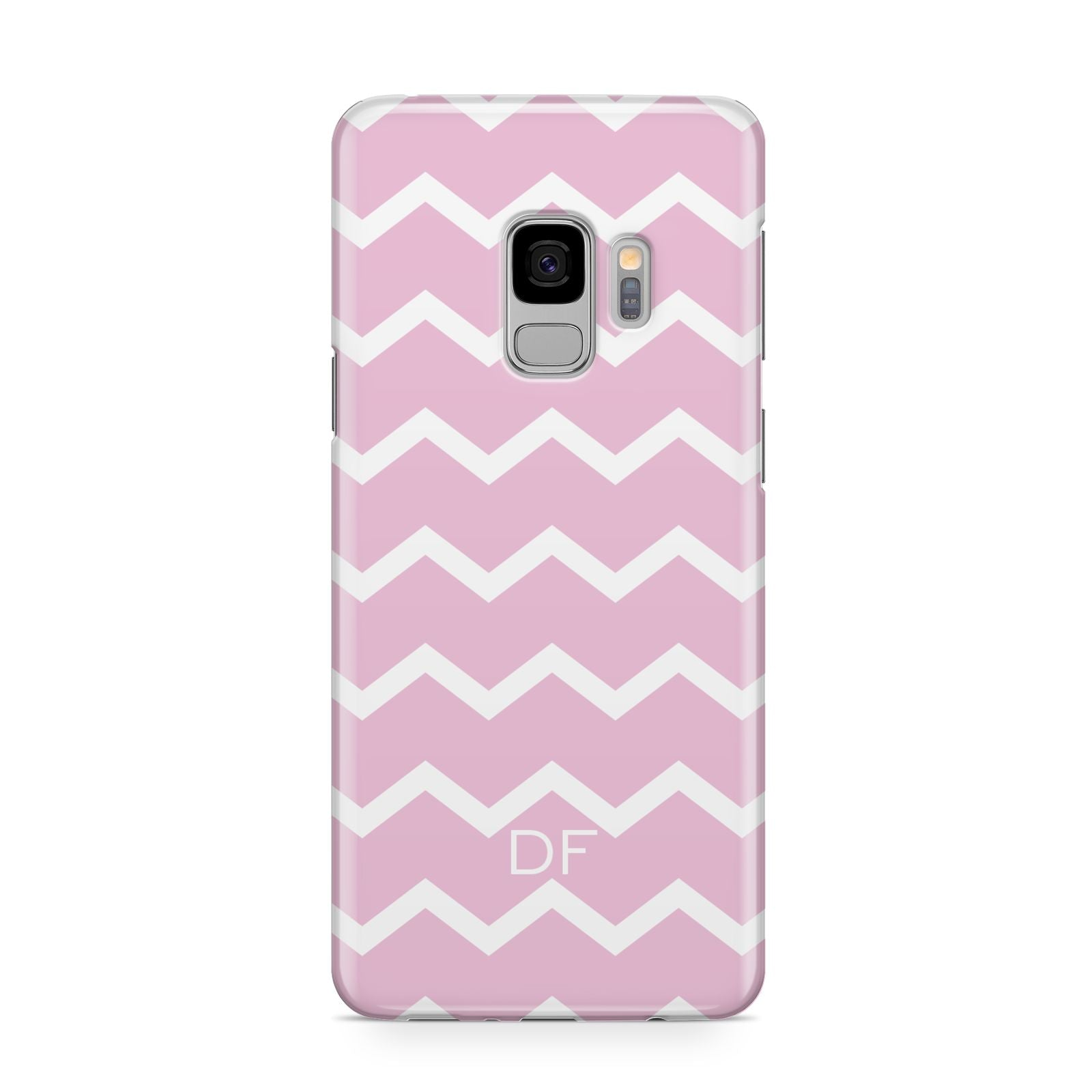 Personalised Chevron Pink Samsung Galaxy S9 Case