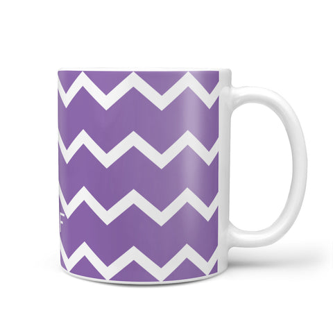 Personalised Chevron Purple Mug