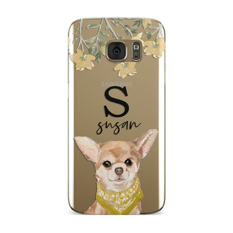 Personalised Chihuahua Dog Samsung Galaxy Case