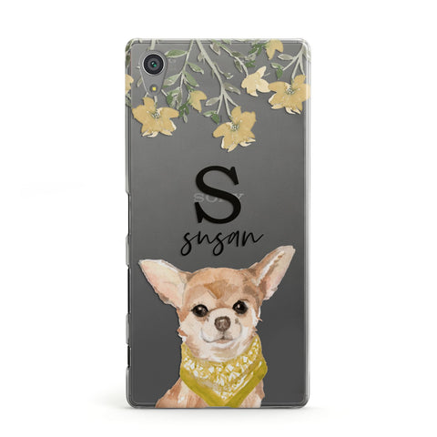 Personalised Chihuahua Dog Sony Case
