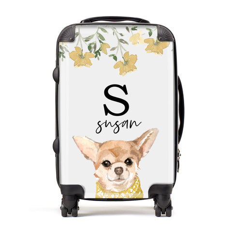 Personalised Chihuahua Dog Suitcase