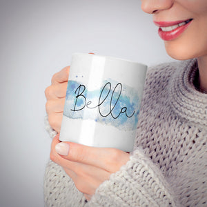Personalised Christmas Snow fall 10oz Mug Alternative Image 6