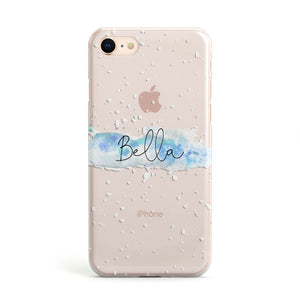 Personalised Christmas Snow fall Apple iPhone Case