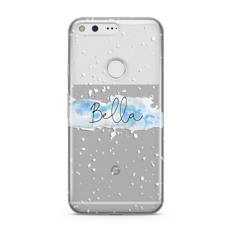 Personalised Christmas Snow fall Google Case