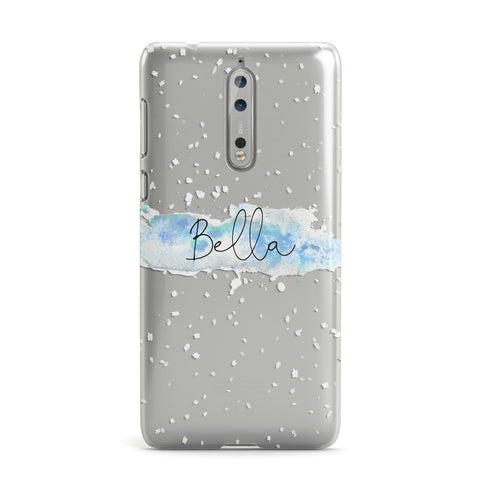 Personalised Christmas Snow fall Nokia Case