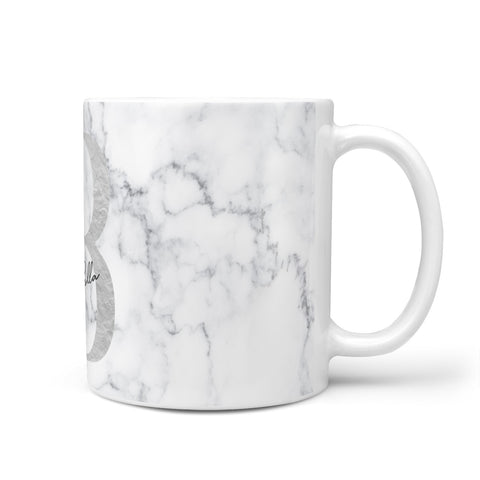 Personalised Chrome Marble Mug