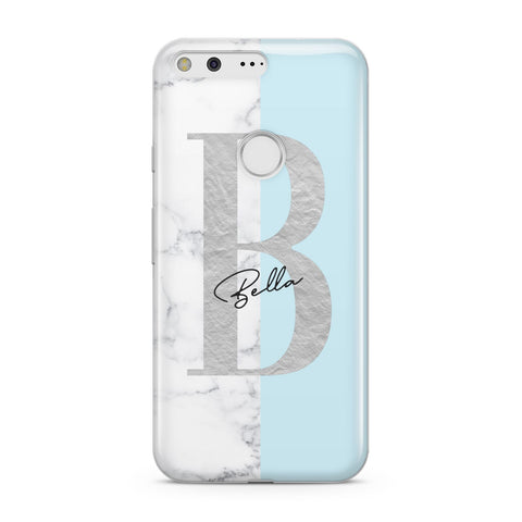 Personalised Chrome Marble Google Case