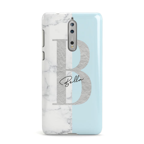 Personalised Chrome Marble Nokia Case