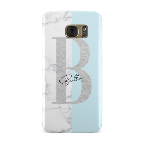 Personalised Chrome Marble Samsung Galaxy Case