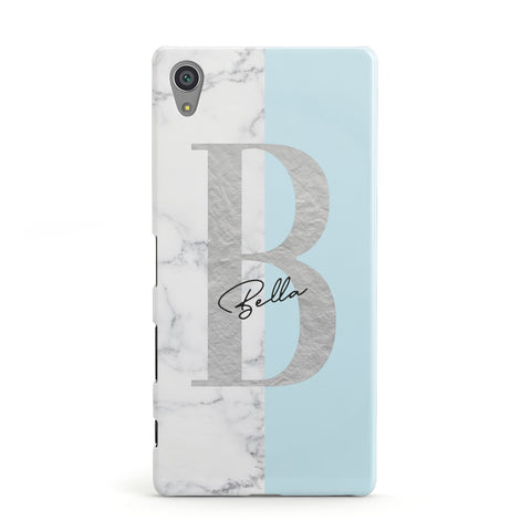 Personalised Chrome Marble Sony Case