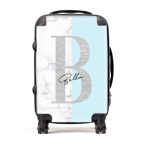 Personalised Chrome Marble Suitcase