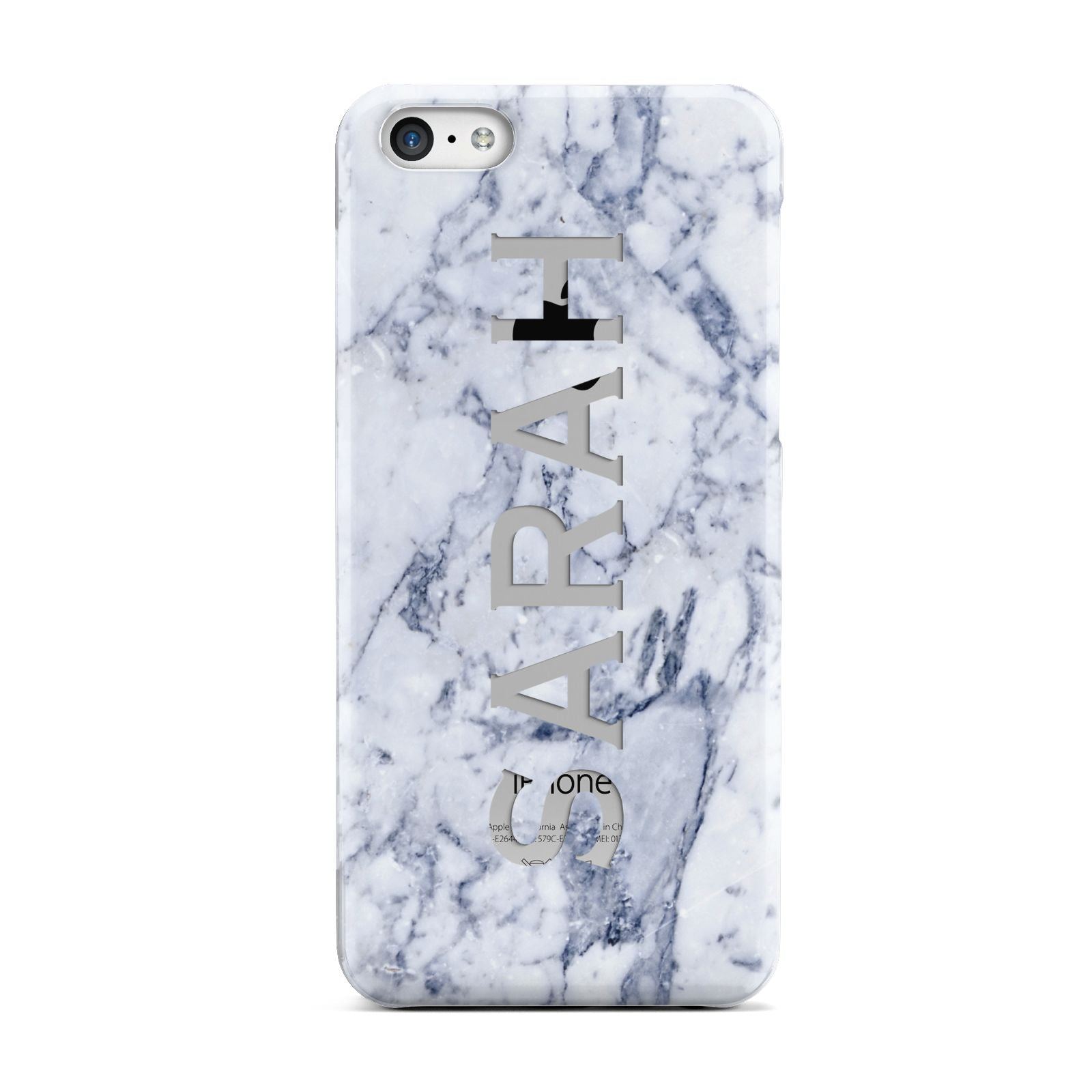 Personalised Clear Name Cutout Blue Marble Custom Apple iPhone 5c Case