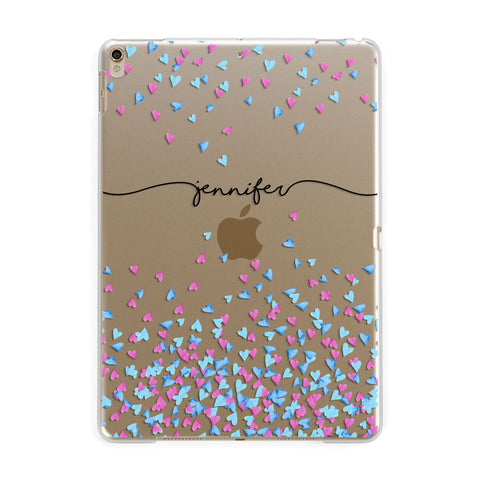 Personalised Confetti Hearts iPad Case