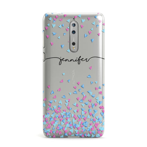 Personalised Confetti Hearts Nokia Case