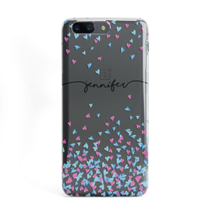 Personalised Confetti Hearts OnePlus Case