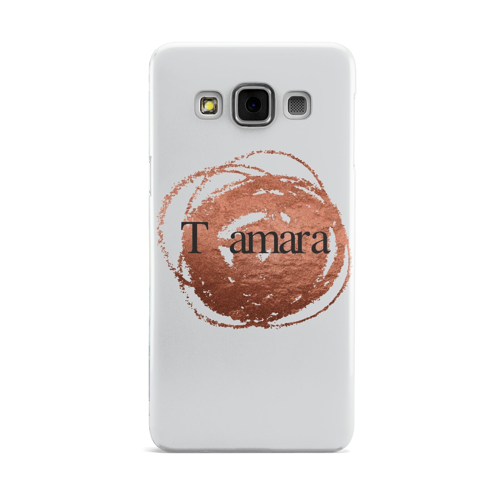 Personalised Copper Effect Custom Initials Samsung Galaxy A3 Case
