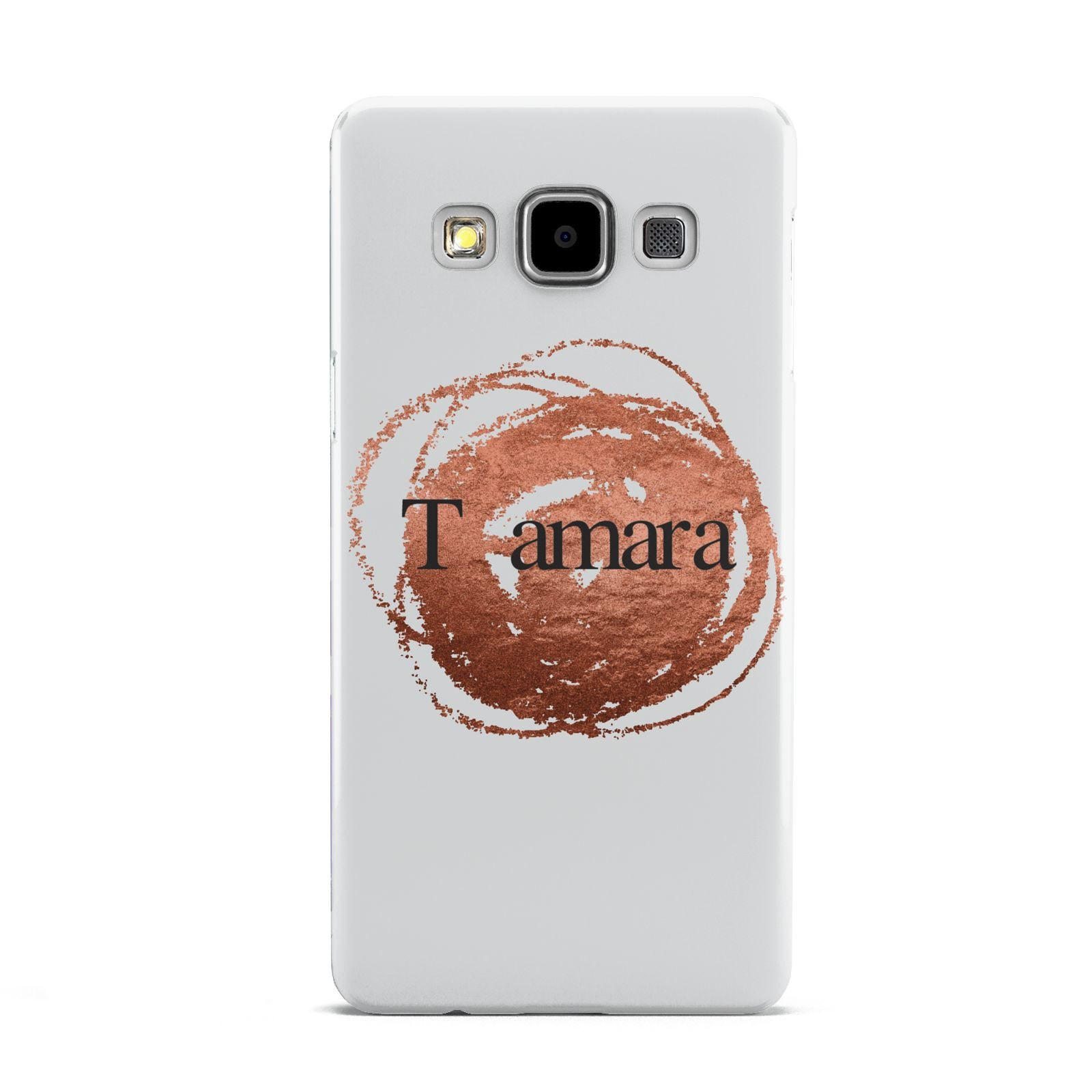 Personalised Copper Effect Custom Initials Samsung Galaxy A5 Case