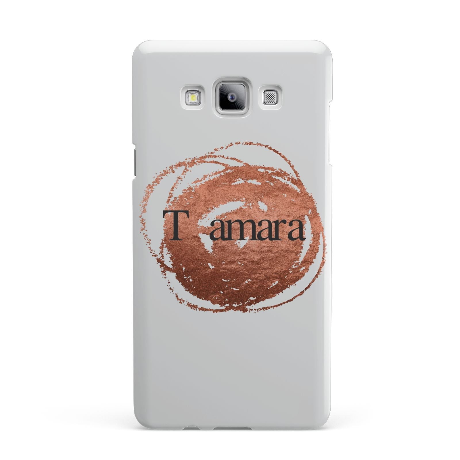 Personalised Copper Effect Custom Initials Samsung Galaxy A7 2015 Case