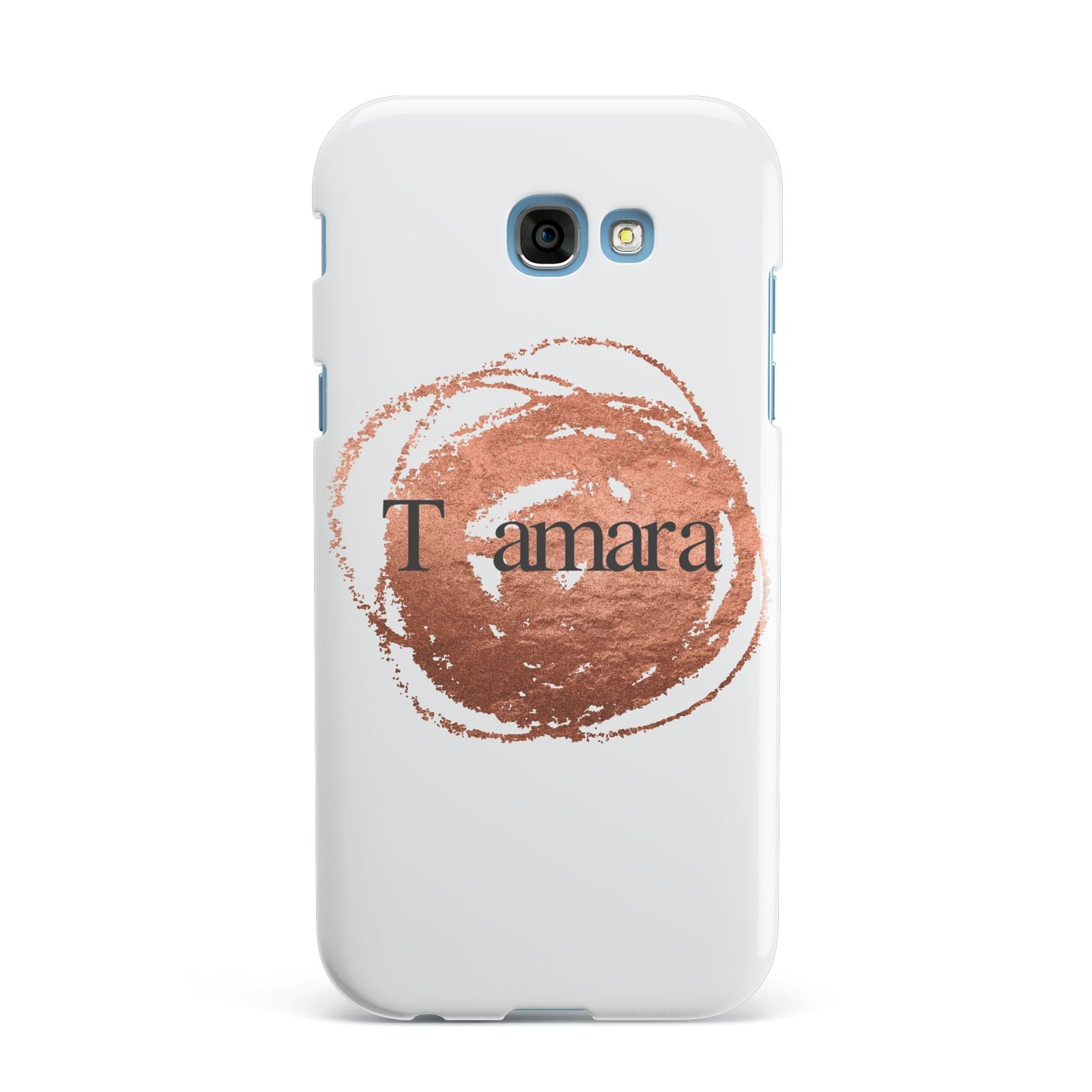 Personalised Copper Effect Custom Initials Samsung Galaxy A7 2017 Case