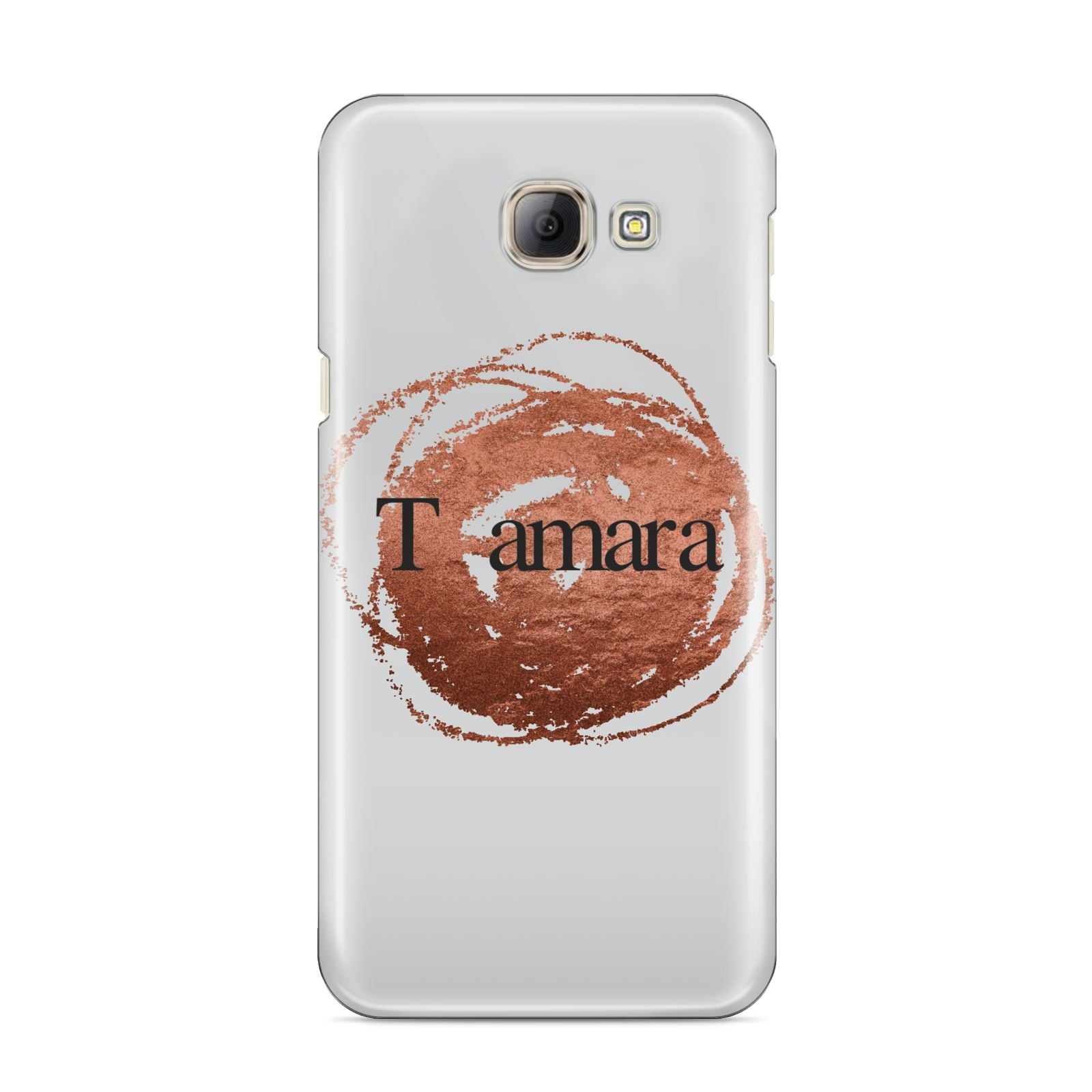 Personalised Copper Effect Custom Initials Samsung Galaxy A8 2016 Case