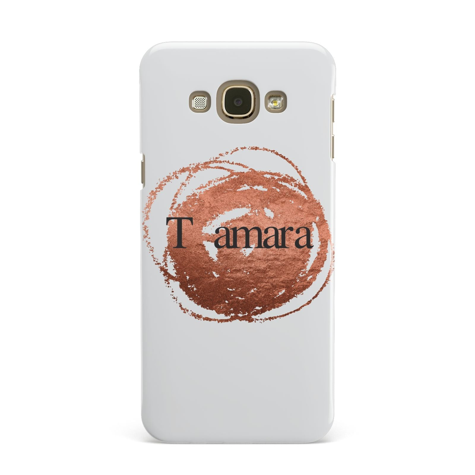 Personalised Copper Effect Custom Initials Samsung Galaxy A8 Case