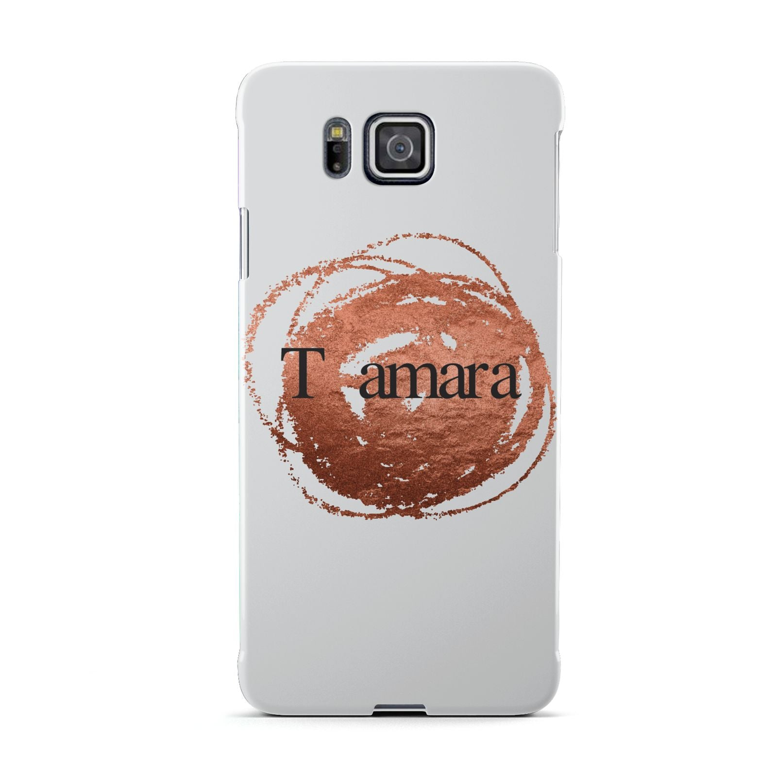 Personalised Copper Effect Custom Initials Samsung Galaxy Alpha Case