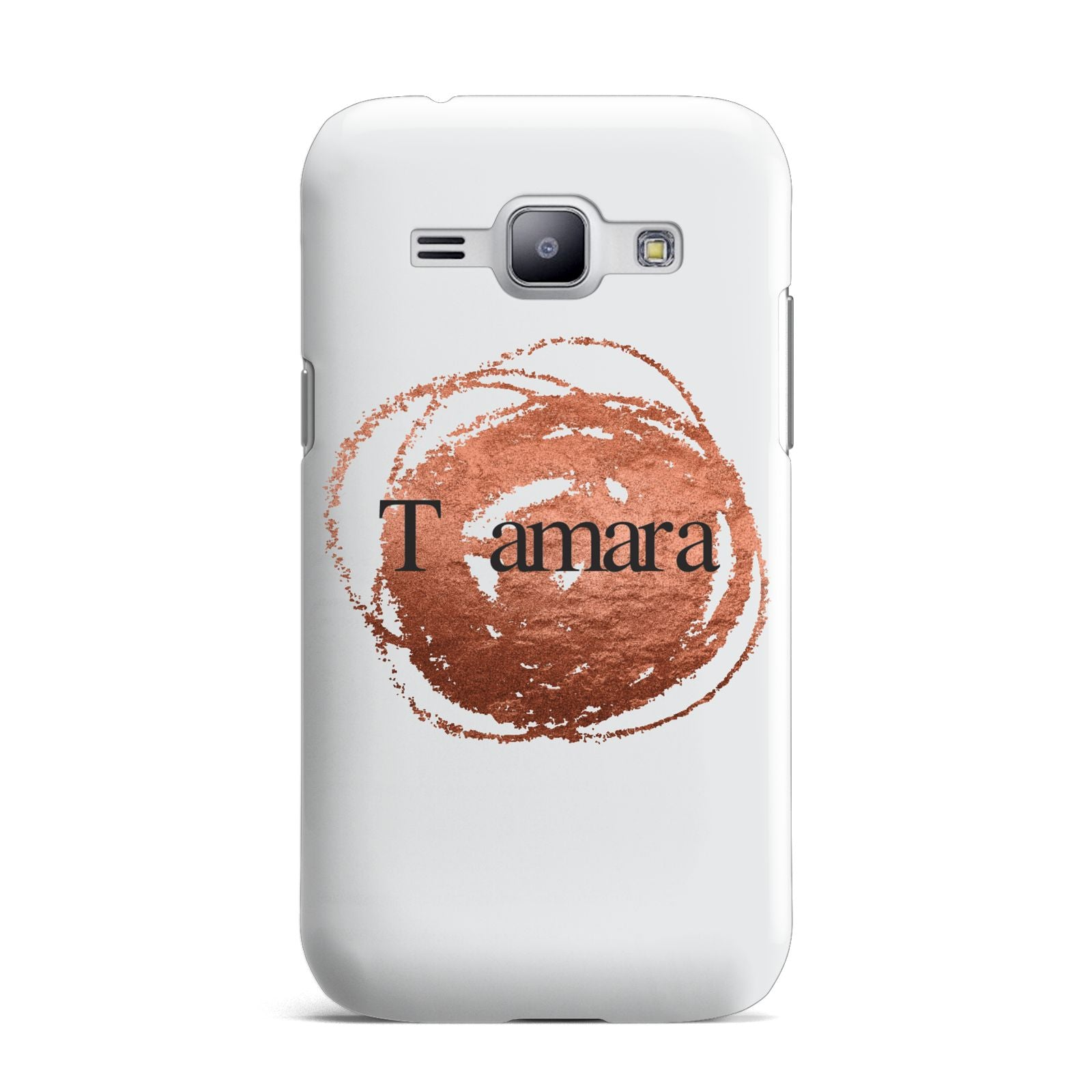 Personalised Copper Effect Custom Initials Samsung Galaxy J1 2015 Case