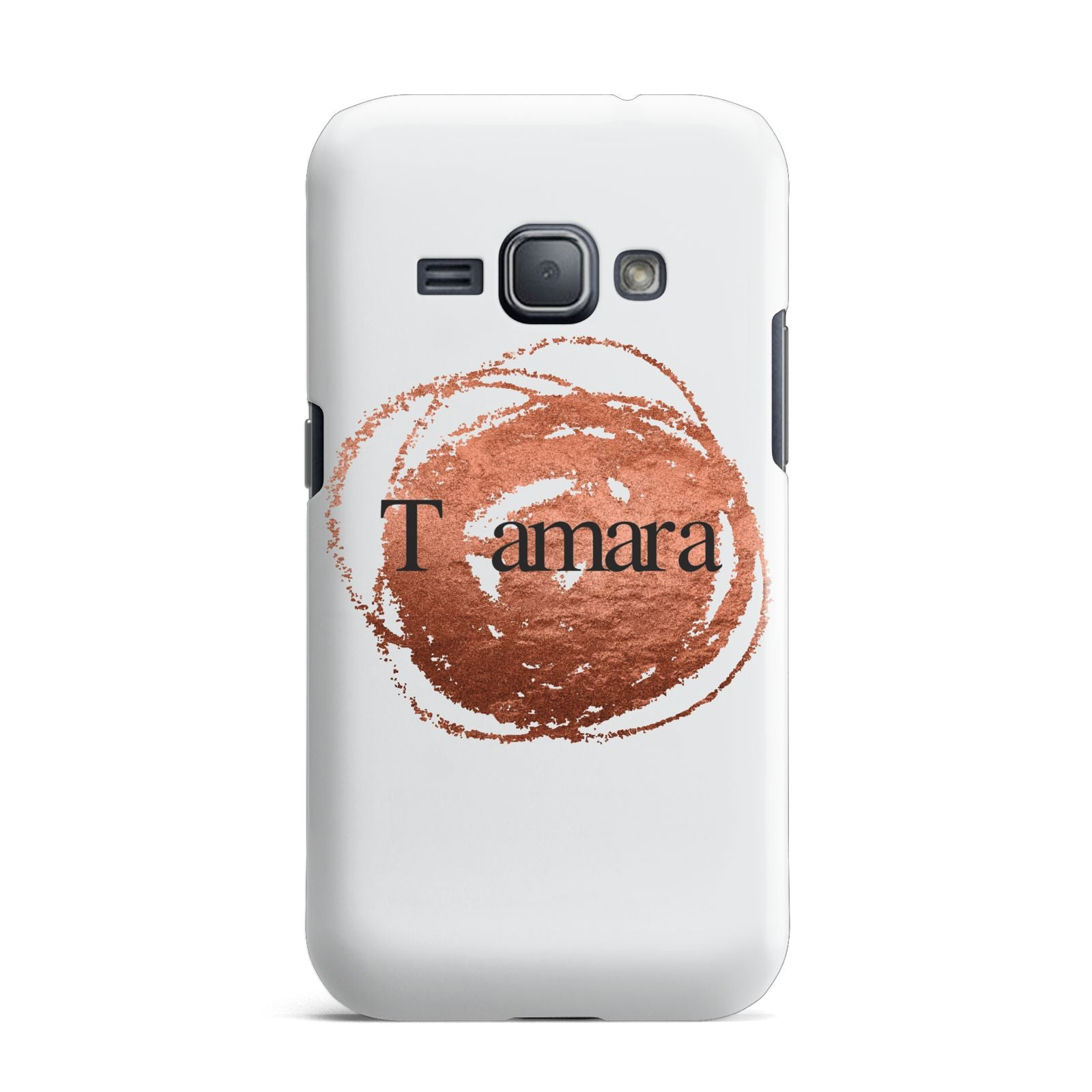 Personalised Copper Effect Custom Initials Samsung Galaxy J1 2016 Case