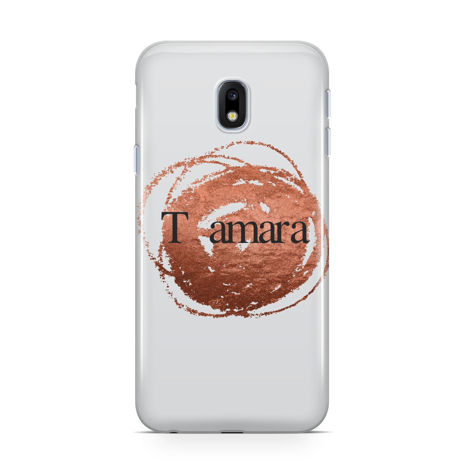 Personalised Copper Effect Custom Initials Samsung Galaxy J3 2017 Case