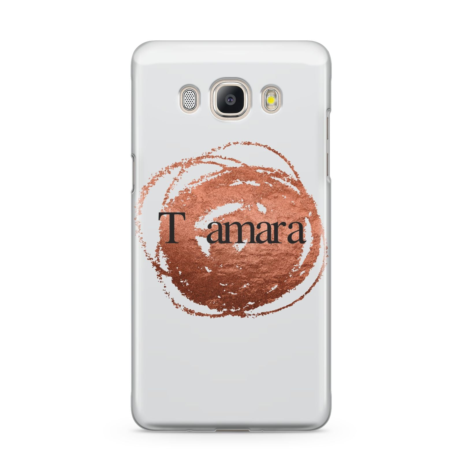 Personalised Copper Effect Custom Initials Samsung Galaxy J5 2016 Case