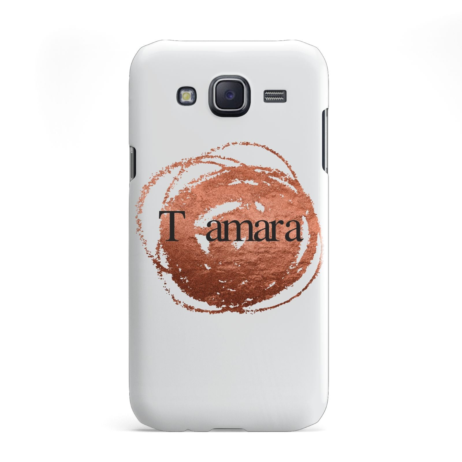 Personalised Copper Effect Custom Initials Samsung Galaxy J5 Case