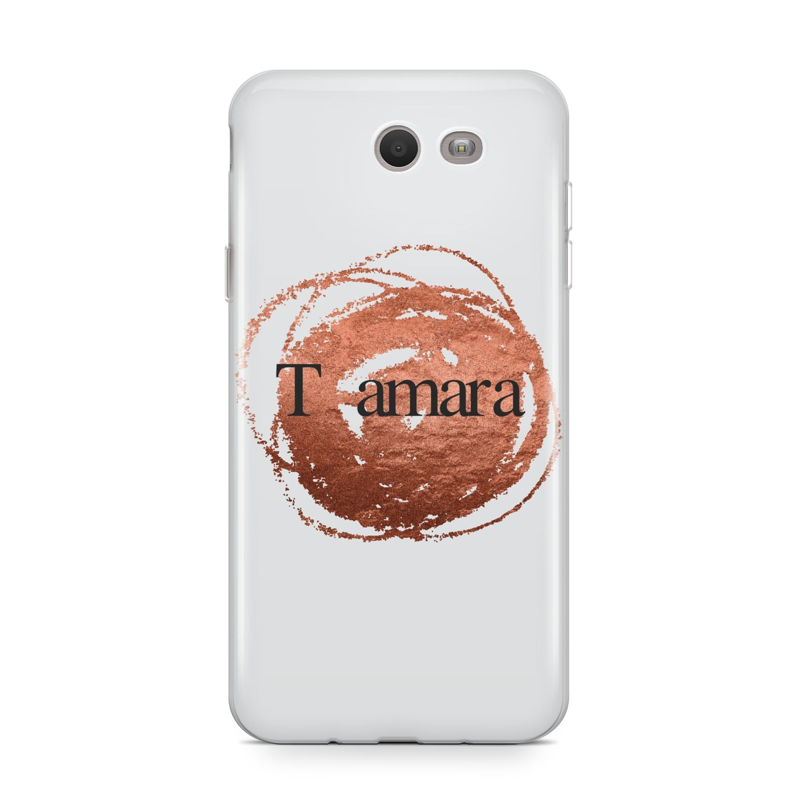 Personalised Copper Effect Custom Initials Samsung Galaxy J7 2017 Case