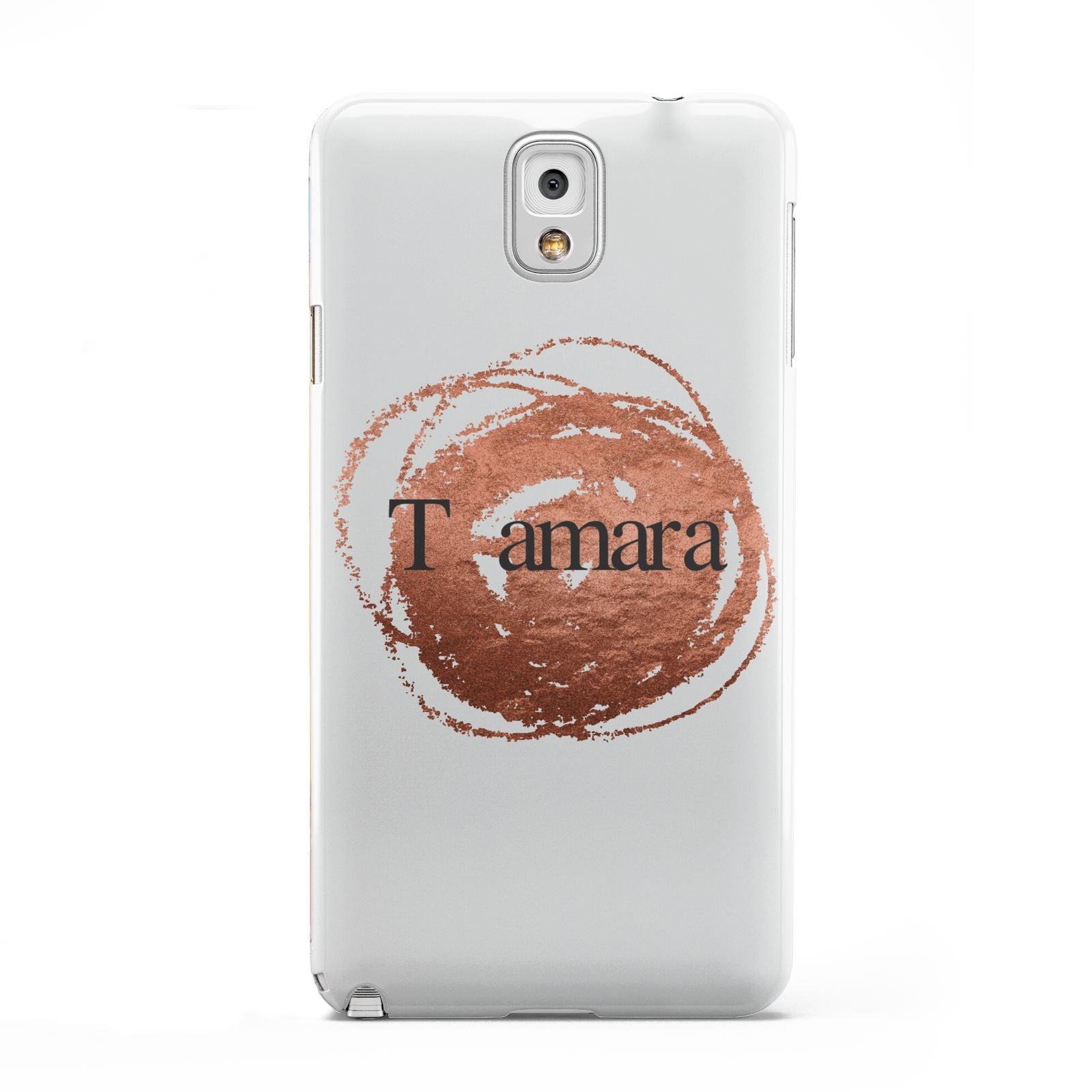Personalised Copper Effect Custom Initials Samsung Galaxy Note 3 Case