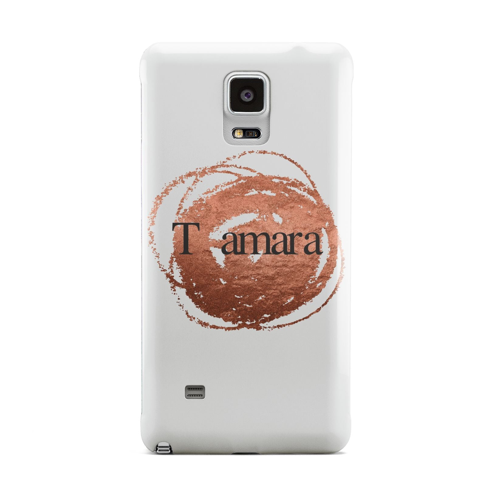 Personalised Copper Effect Custom Initials Samsung Galaxy Note 4 Case