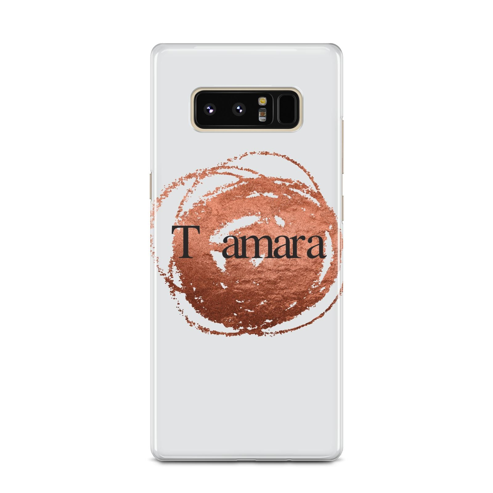 Personalised Copper Effect Custom Initials Samsung Galaxy Note 8 Case
