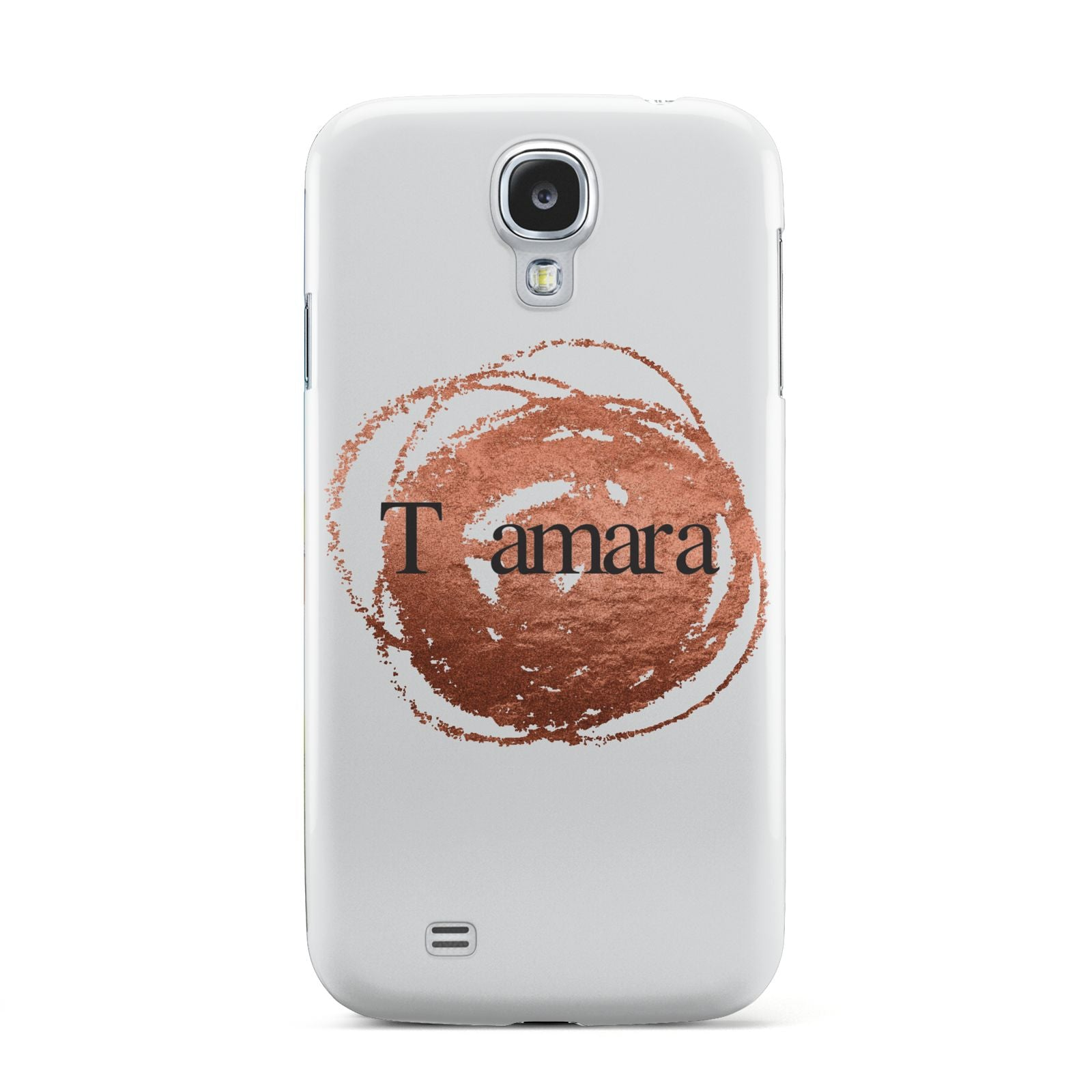 Personalised Copper Effect Custom Initials Samsung Galaxy S4 Case
