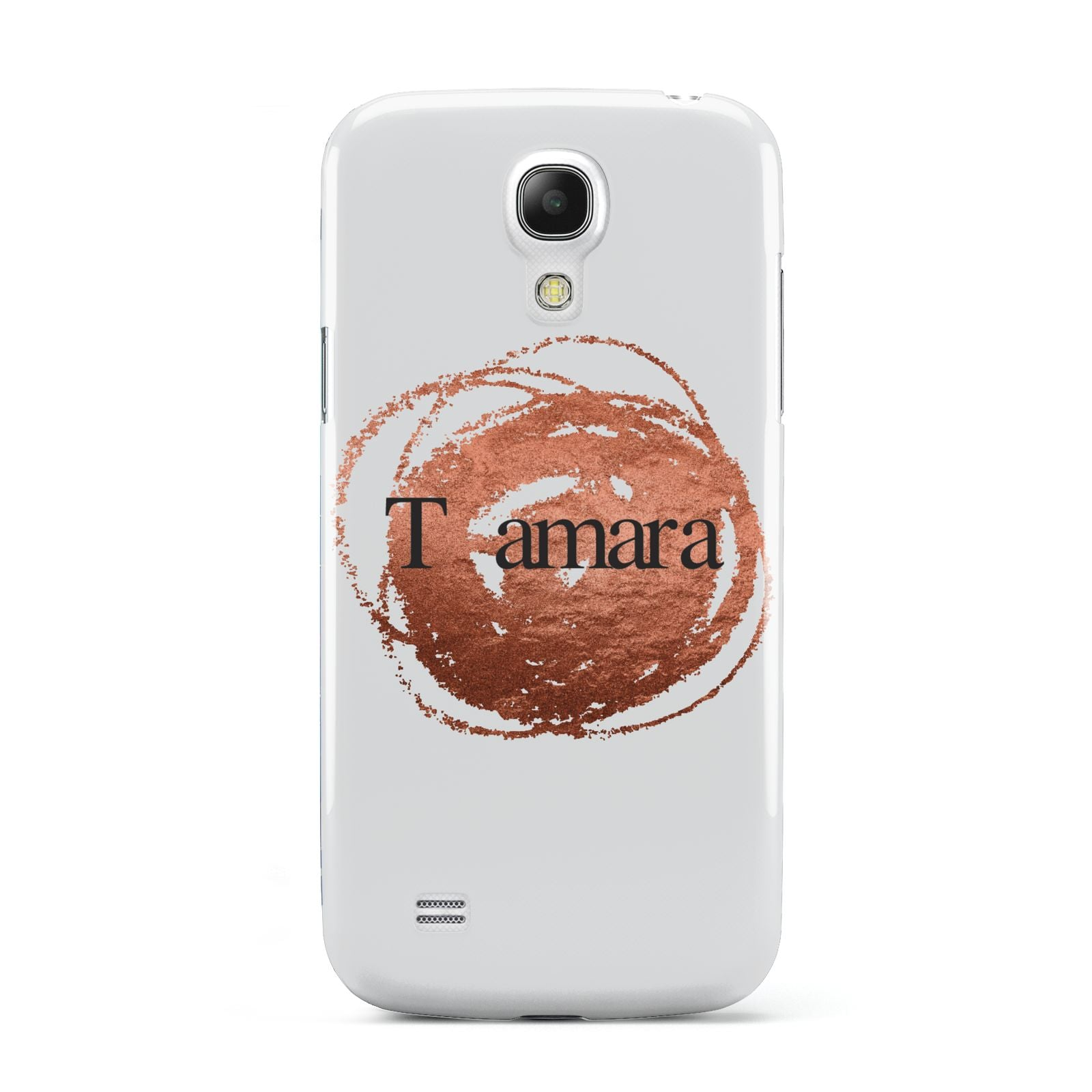 Personalised Copper Effect Custom Initials Samsung Galaxy S4 Mini Case