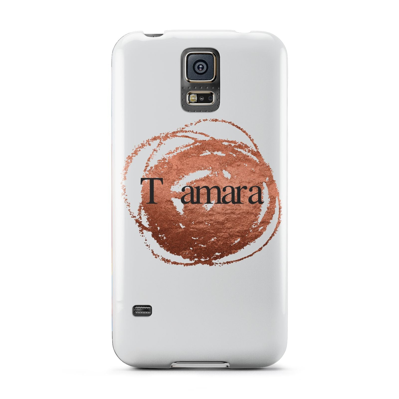 Personalised Copper Effect Custom Initials Samsung Galaxy S5 Case