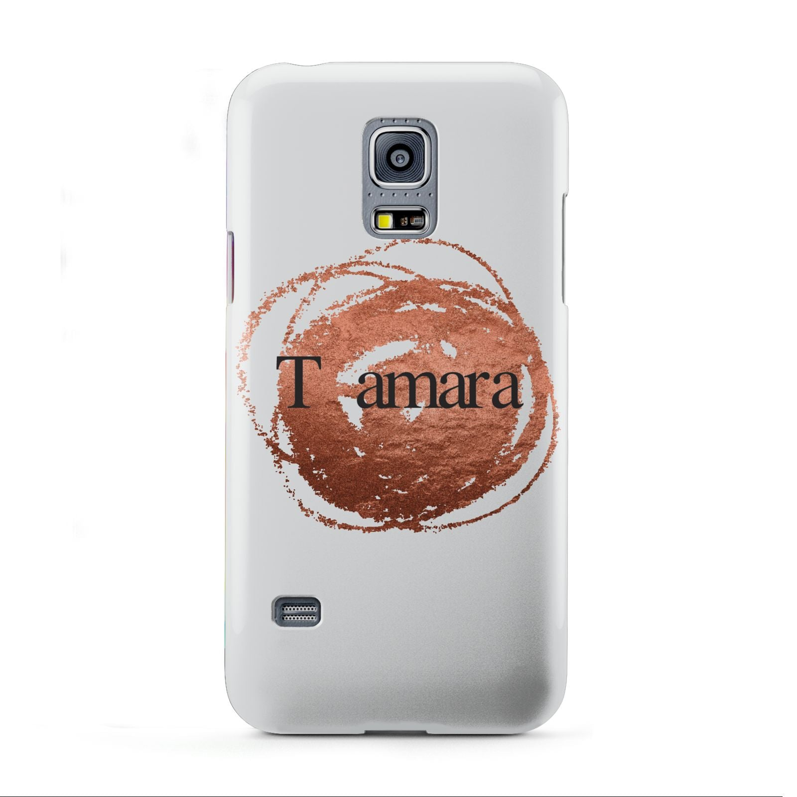 Personalised Copper Effect Custom Initials Samsung Galaxy S5 Mini Case