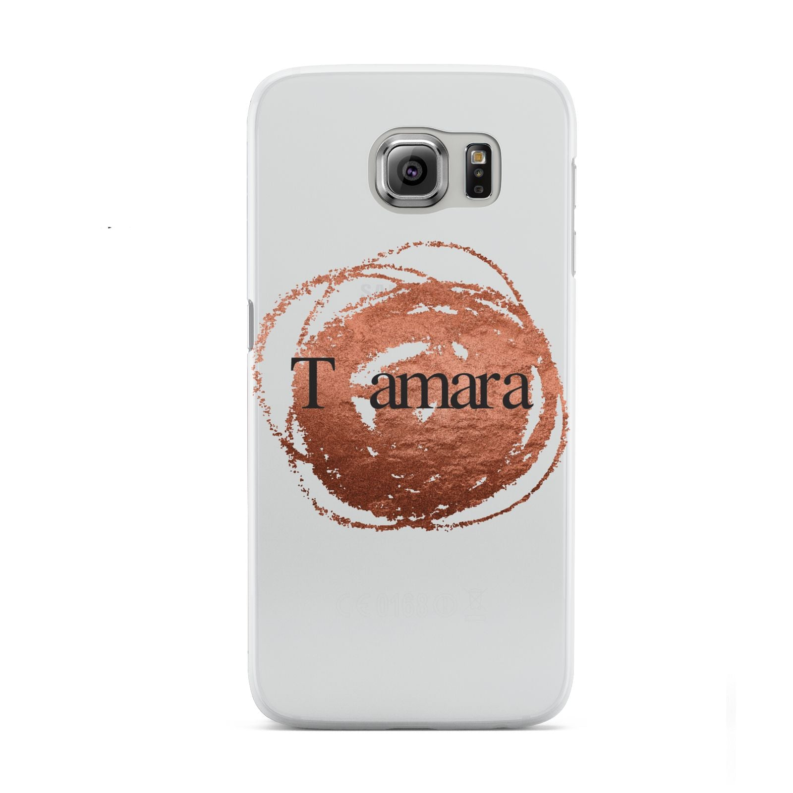 Personalised Copper Effect Custom Initials Samsung Galaxy S6 Case