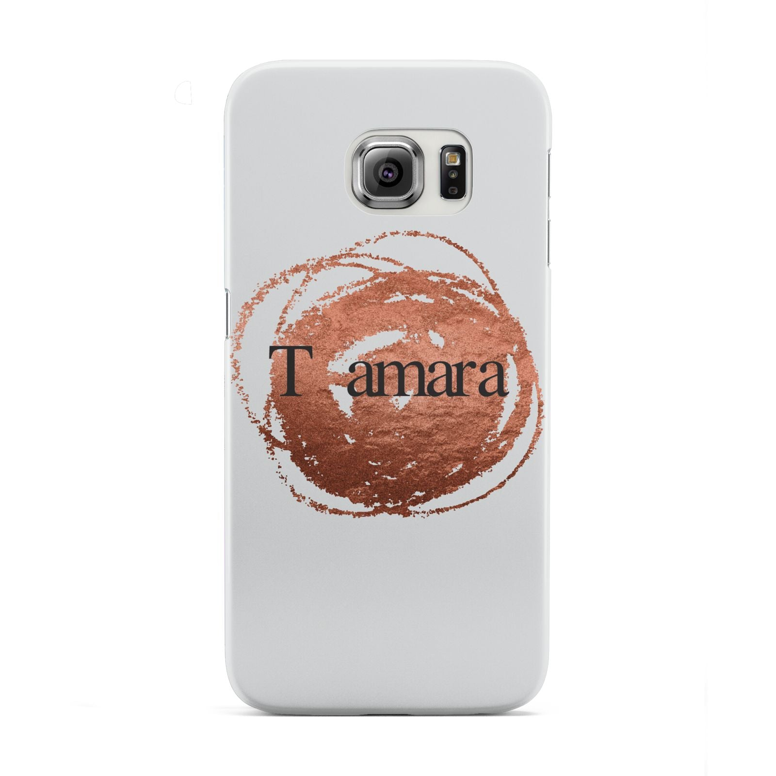 Personalised Copper Effect Custom Initials Samsung Galaxy S6 Edge Case