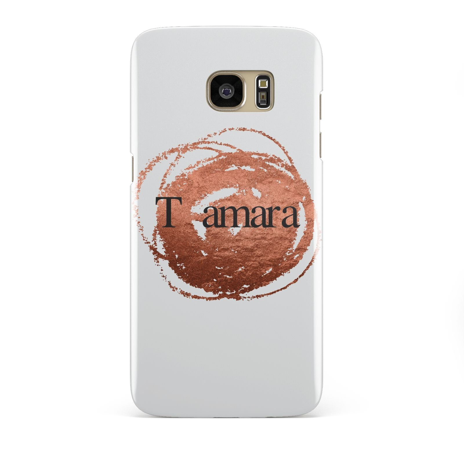 Personalised Copper Effect Custom Initials Samsung Galaxy S7 Edge Case