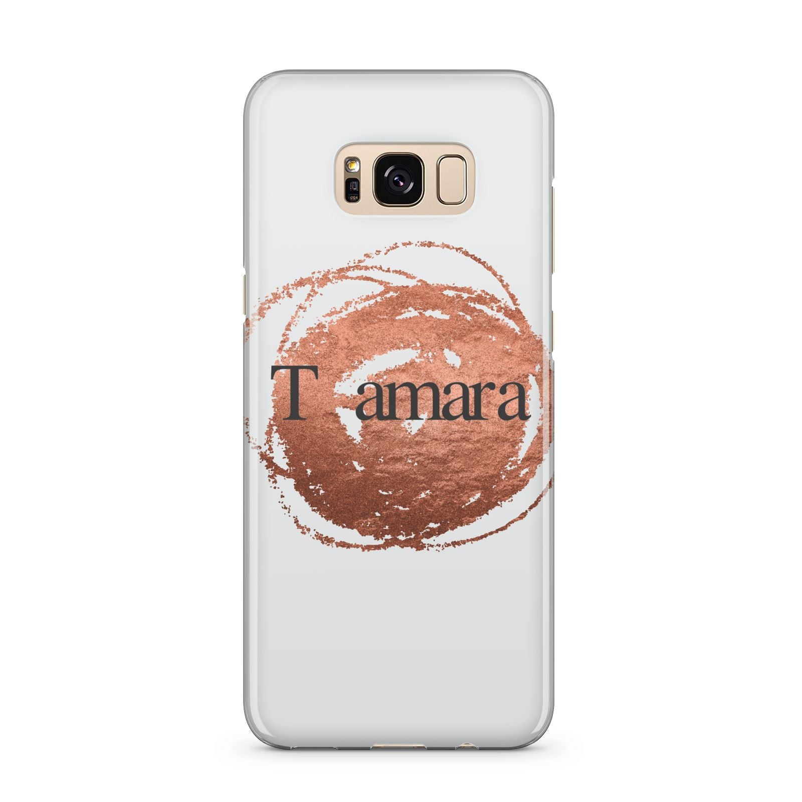 Personalised Copper Effect Custom Initials Samsung Galaxy S8 Plus Case