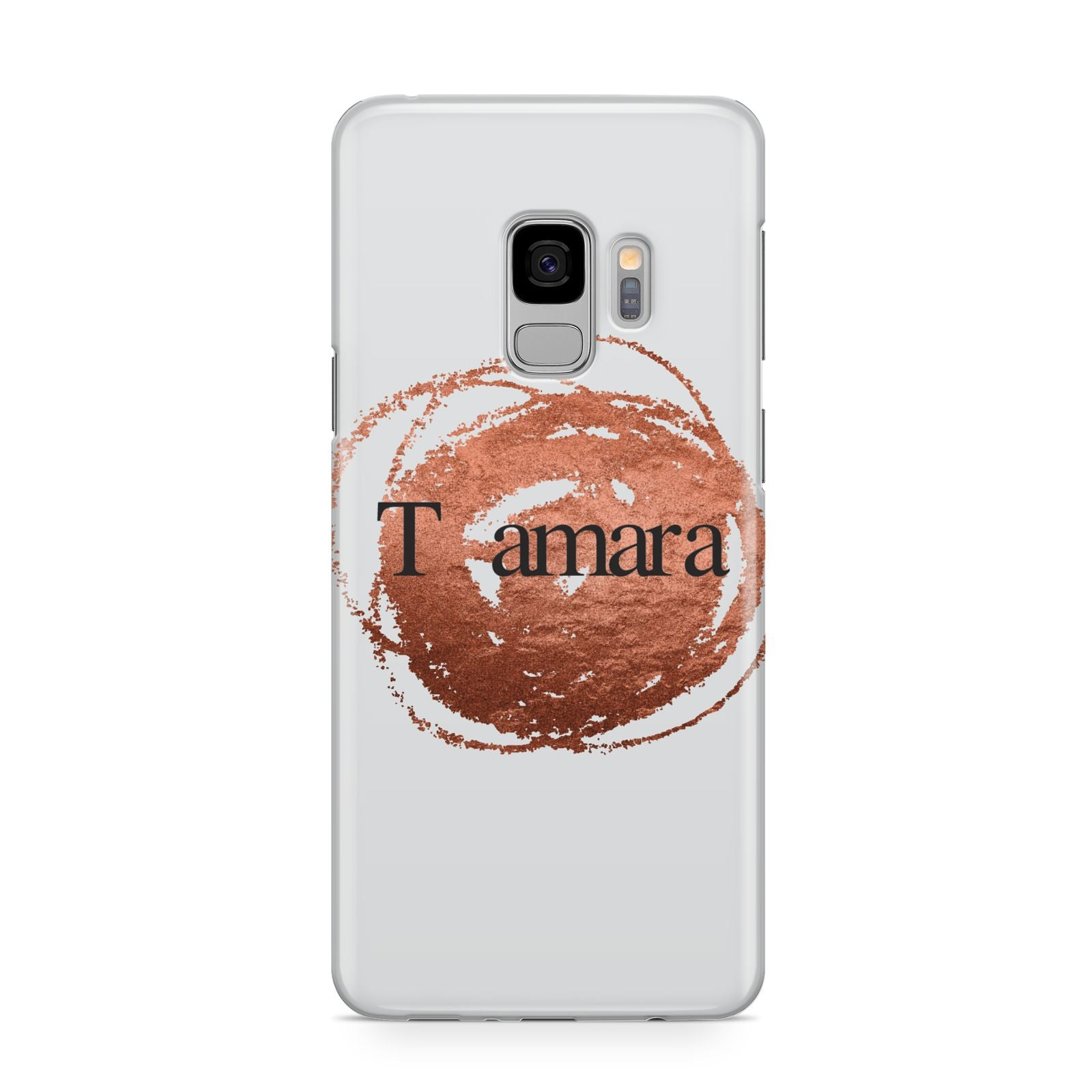 Personalised Copper Effect Custom Initials Samsung Galaxy S9 Case