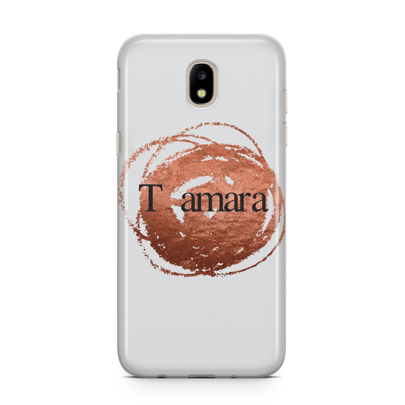 Personalised Copper Effect Custom Initials Samsung J5 2017 Case