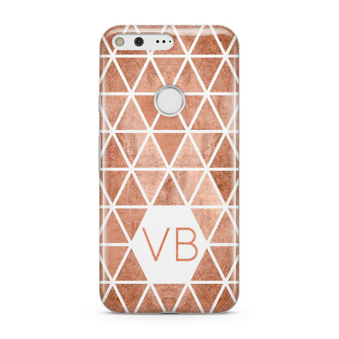 Personalised Copper Initials Google Case