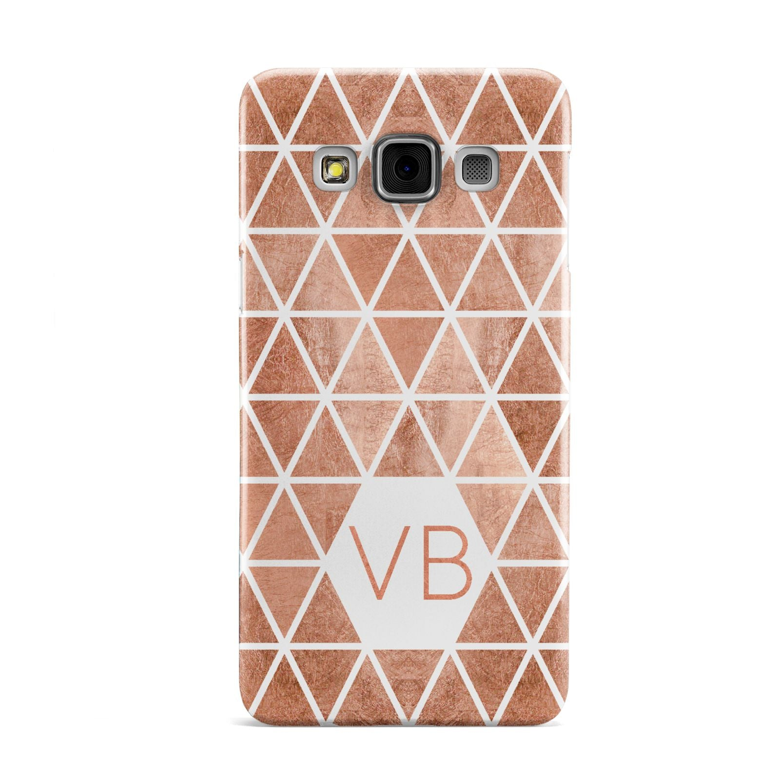 Personalised Copper Initials Samsung Galaxy A3 Case