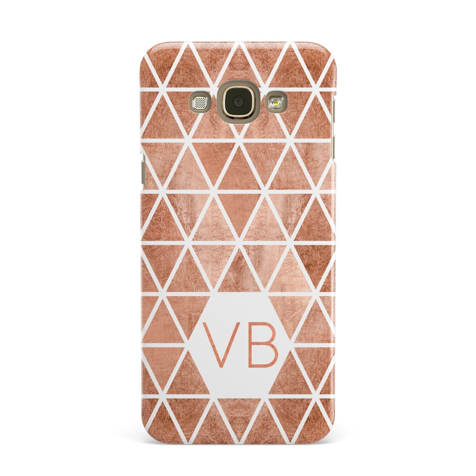 Personalised Copper Initials Samsung Galaxy A8 Case