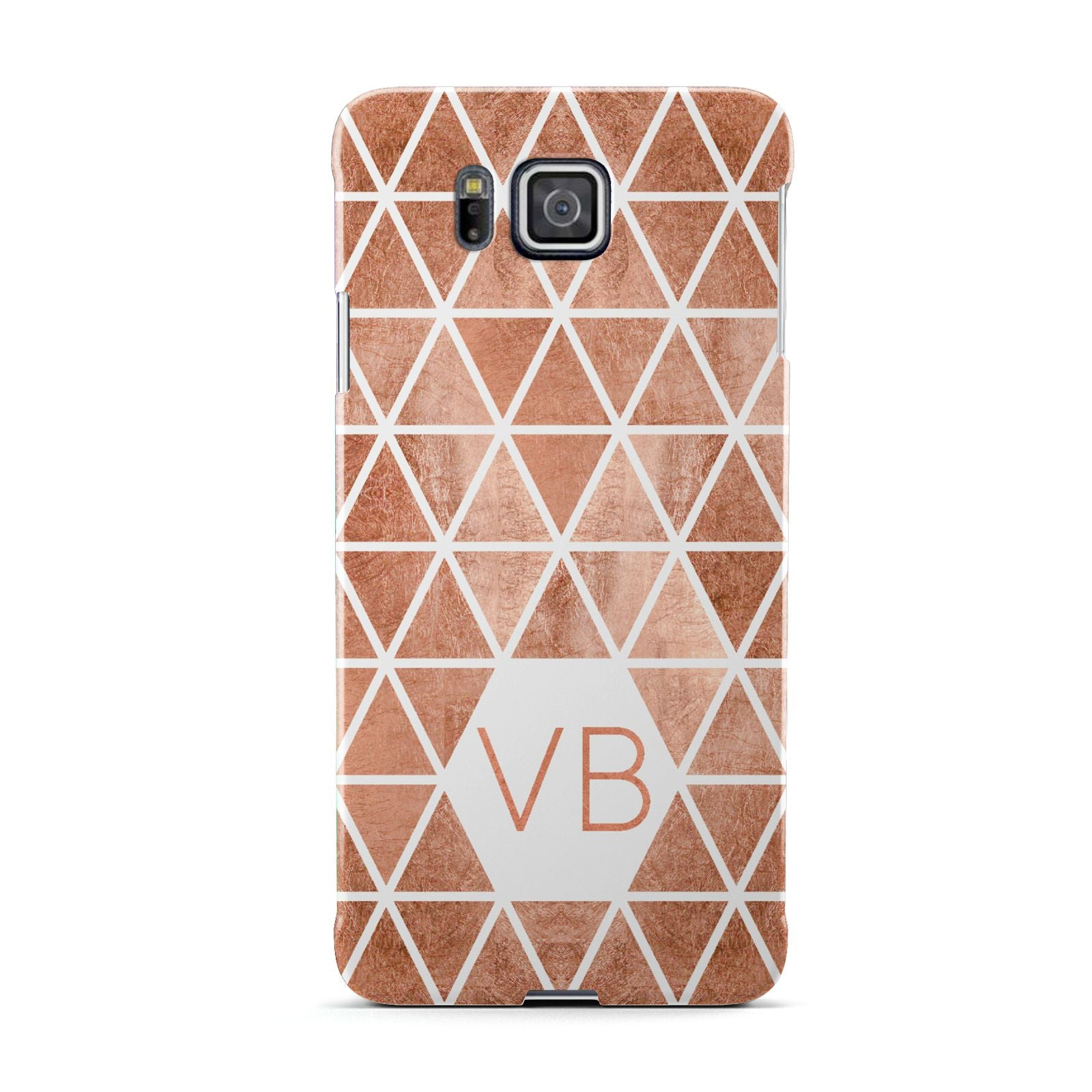 Personalised Copper Initials Samsung Galaxy Alpha Case